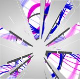 Abstract technology circles background. Dynamic illustration royalty free illustration