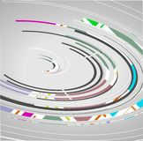 Abstract technology circles background. Dynamic illustration stock illustration