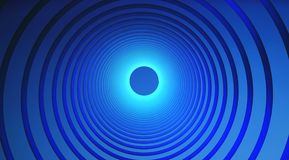 Abstract technology circles. Graphic design on blue background. 3d illustration Stock Photography