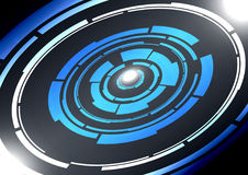 Abstract technology circles vector background Stock Photo