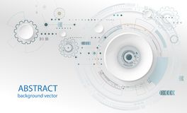 Abstract technology circles vector blue background. Royalty Free Stock Image