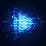 Abstract Technology circuit background vector illustration. Innovation Royalty Free Stock Image