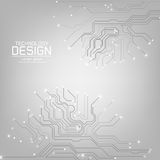 Abstract technology with a circuit board texture. On the gray background illustration royalty free illustration
