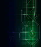 Abstract technology circuit green-blue background Royalty Free Stock Image