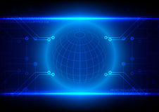 Abstract technology circuit with sphere grid background, Vector Royalty Free Stock Photography