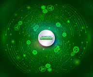 Abstract technology communication on the green background. Hi-te Stock Photo