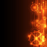 Abstract technology concept background, vector illustration Royalty Free Stock Images