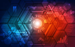 Abstract technology concept background. vector illustration Stock Photography