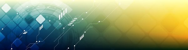 Abstract technology concept bright web header banner Royalty Free Stock Photos