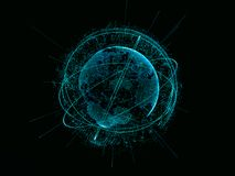 Abstract technology concept. Digital world Stock Photography