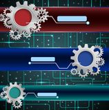 Abstract technology concept with gears background Royalty Free Stock Photography