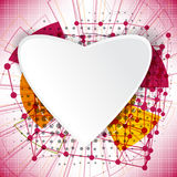 Abstract technology concept valentine's day background hearts Stock Photos