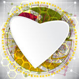 Abstract technology concept valentine's day background hearts Royalty Free Stock Photography