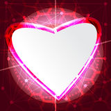 Abstract technology concept valentine's day background hearts Stock Image