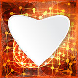 Abstract technology concept valentine's day background hearts Stock Images