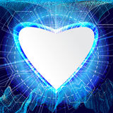 Abstract technology concept valentine's day background hearts. With space for text Royalty Free Stock Images