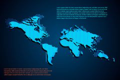 Abstract technology concept World map. Dot on hi tech background royalty free illustration