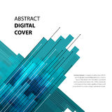 Abstract technology contour objects.Financial modern presentatio Royalty Free Stock Photography