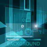 Abstract technology contour objects.Financial modern presentatio Stock Photography