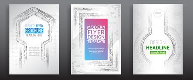 Free Abstract Technology Cover With Various Techno Elements. High Tech Brochure Design Concept. Futuristic Business Layout Royalty Free Stock Photo - 172253905