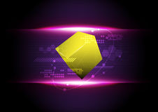 Abstract technology cube Royalty Free Stock Photos