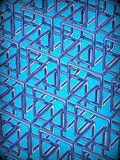 Abstract technology 3D background. With metallic rectangles Royalty Free Stock Images