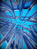 Abstract technology 3D background Royalty Free Stock Image