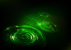 Abstract Technology Dark Green Background Stock Image