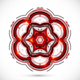 Abstract technology dark red flower Stock Photos