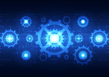 Abstract technology digital concept background, vector illustration Stock Image
