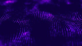 Abstract technology flow background. Futuristic dots background with a dynamic wave. 3d rendering royalty free illustration