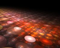 Abstract technology futuristic glowing circles background Stock Image