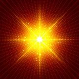 Abstract technology futuristic red neon radial light burst effec. T on dark background. Digital elements circles halftone. Vector illustration vector illustration
