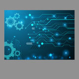 Abstract technology gear circuit board, Vector background eps 10 Stock Photo