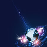 Abstract Technology Global Communications Stock Images
