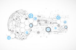 Abstract technology globe background. Stock Photos