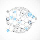 Abstract technology globe background. Royalty Free Stock Photography