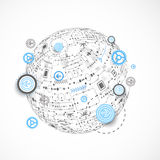Abstract technology globe background. Royalty Free Stock Image