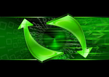 Abstract technology green arrows Stock Photography