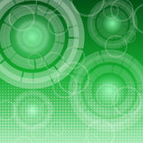 Abstract technology on green background Stock Photos