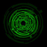 Abstract technology green circles background Stock Photo