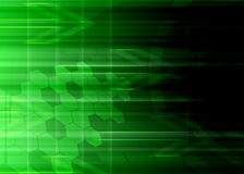 Abstract technology greenbackground. Stock Images