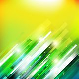 Abstract technology  growing green lines illustration Royalty Free Stock Photo
