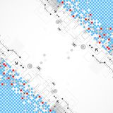 Abstract technology halftone background Stock Photo