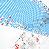 Abstract technology halftone background Royalty Free Stock Images