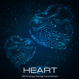 Abstract technology heart. Stock Image