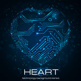 Abstract technology heart. Royalty Free Stock Photography