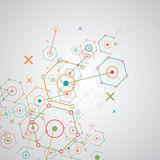 Abstract technology hexagonal background. Stock Images