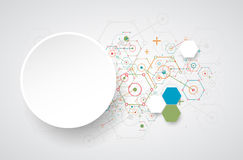 Abstract technology hexagonal background. Stock Photos