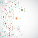 Abstract technology hexagonal background. Stock Photo
